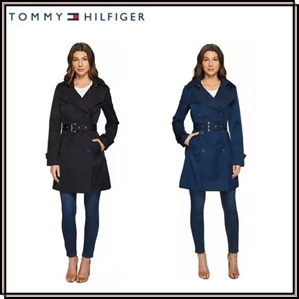 【SALE】*Tommy Hilfiger*Breastedトレンチコート★関税・送料込
