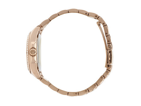★COACH★Tristen Rosegold-Plated Crystal Bracelet Watch