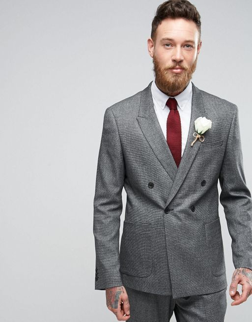 新生活☆ASOS  WEDDING Skinny Suit in Micro  フォーマルスーツ