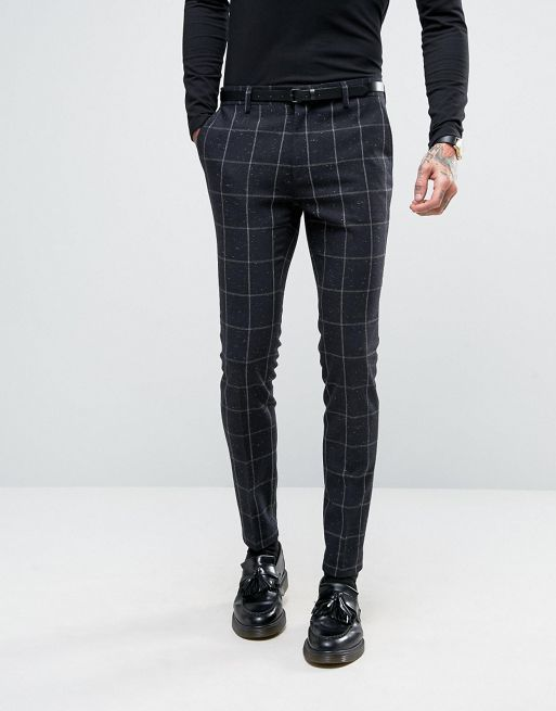 新生活☆ASOS  Super Skinny Suit in Navy Che フォーマルスーツ