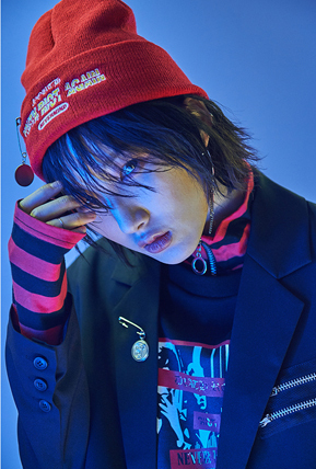 ★ANOTHERYOUTH★2017ss PIN付ビーニー帽 (Black / Red )