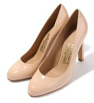 【関税負担】 SALVATORE FERRAGAMO L E O PUMPS NEWBISQUE