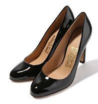 【関税負担】 SALVATORE FERRAGAMO L E O PUMPS NERO
