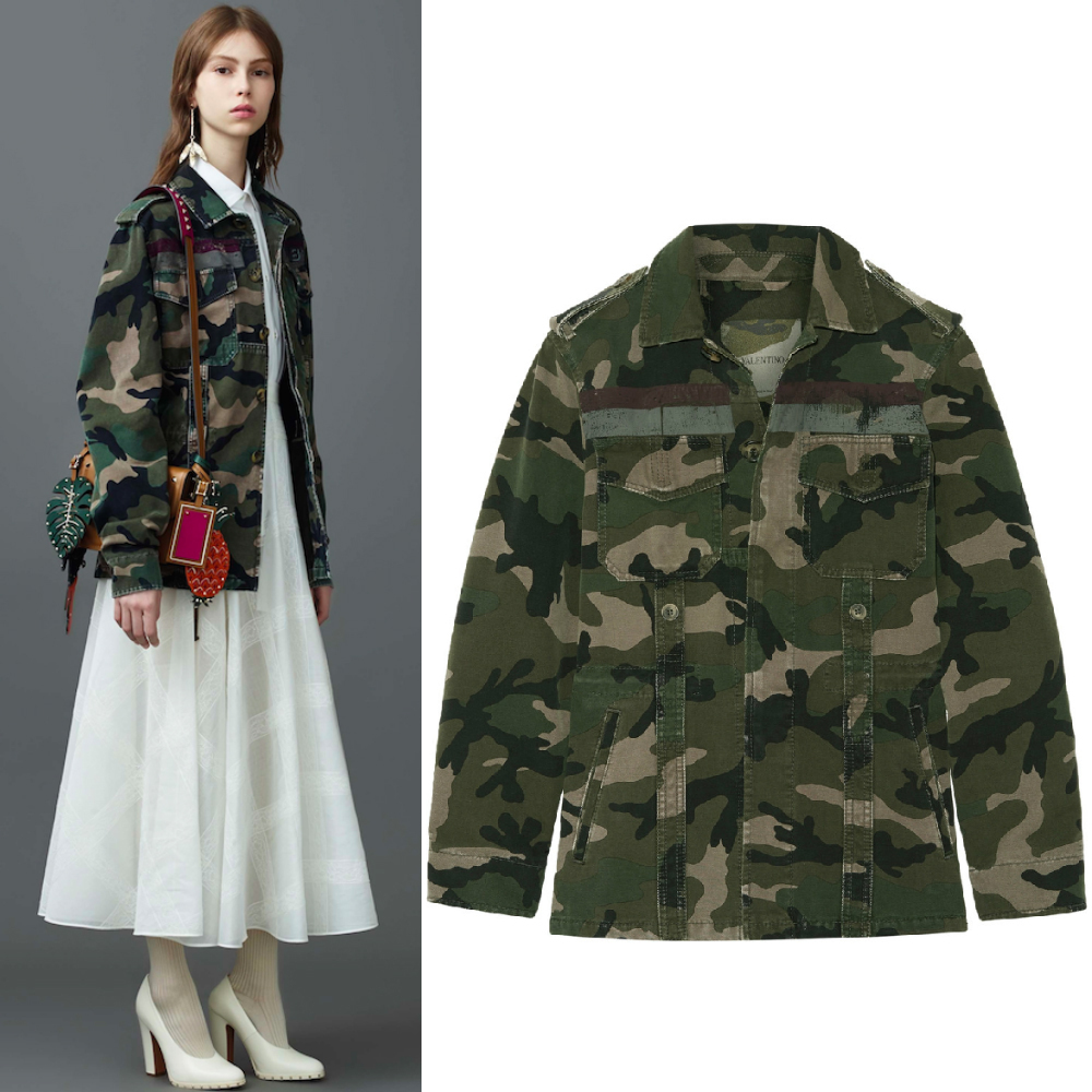 17SS V687 LOOK33 CAMOUFLAGE PRINTED COTTON MILITARY JACKET