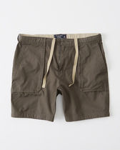 【送料無料】ABERCROMBIE&FITCH  PULL-ON UTILITY SHORTS