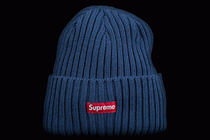 SS17 SUPREME OVERDYED RIBBED BEANIE NAVY 紺 送料無料