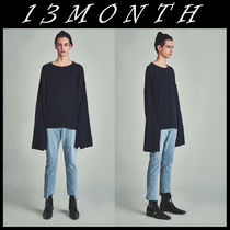 送料無料★13MONTH★VG loose fit knitwear navy
