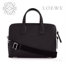 LOEWE★ロエベ Goya Thin Briefcase Black