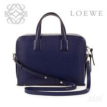 LOEWE★ロエベ Goya Briefcase Navy Blue