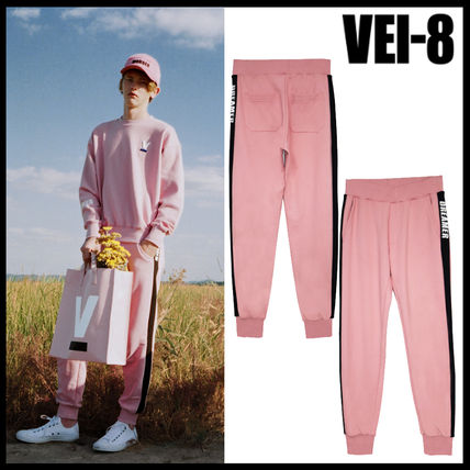Korea popular VEI-8 DREAMER JOGGER PANTS - PINK UNISEX
