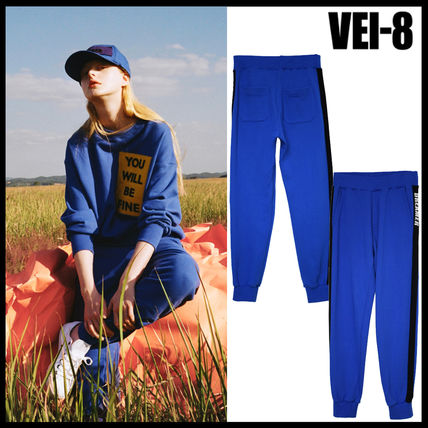 Korea popular VUI-8 DREAMER JOGGER PANTS - BLUE UNISUX