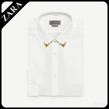 Mun's ZARA collars to metal detail with t-shirts