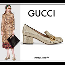 LOOK41◇GG Marmont Metallic Leather パンプス◇GUCCI