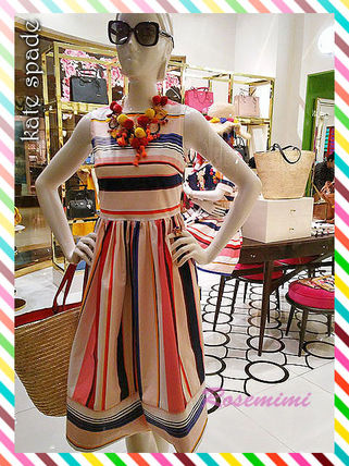 ケイトスペードワンピース★berber stripe fit and flare dress