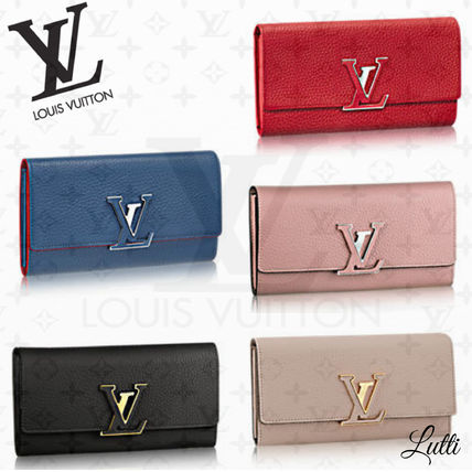+ LOUIS VUITTON + long wallet CAPUCINES 5 colors