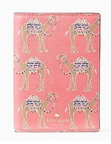 Kate Spade spice things up camel march パスポートホルダー