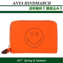 17SS関税込★Anya HindmarchアニヤSmiley compact wallet