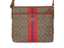 COACH Varsity Stripe File Bag Crossbody F38402