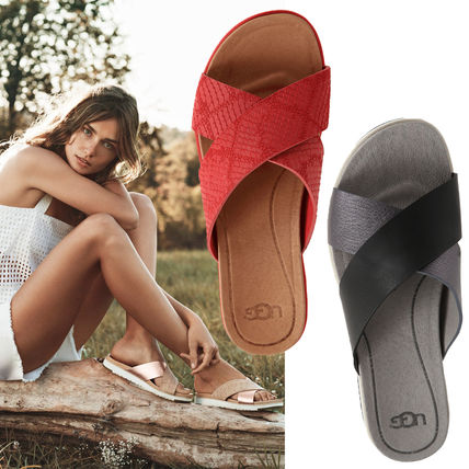 SALE UGG AUDRA cross-strap leather sandals
