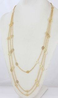 sale!Tory Burch(トリーバーチ)-multi strand logo necklace