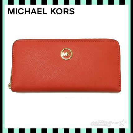 ≪即納≫Michael Kors★Saffiano Leather Zip Around Wallet