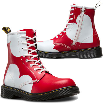 Adults are OK size Dr Martens heart leather boots