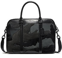 ☆COACH☆PERRY SLIM BRIEF IN BLACKOUT MIXED MATERIALS