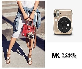 Michael Kors collaboration camera cheki attention