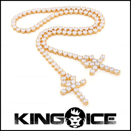 """King Ice"" he 14K Gold Clasp-less Pharaoh チェーンセット"