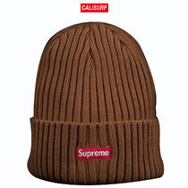 SS17 Supreme(シュプリーム)OVERDYED RIBBED BEANIE/BROWN