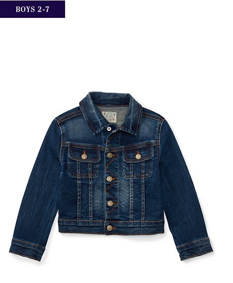 新作♪国内発送 KNIT DENIM TRUCKER JACKET boys 2~7