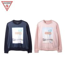 (Guess正規品) woven配色グラフィック M2M 2色