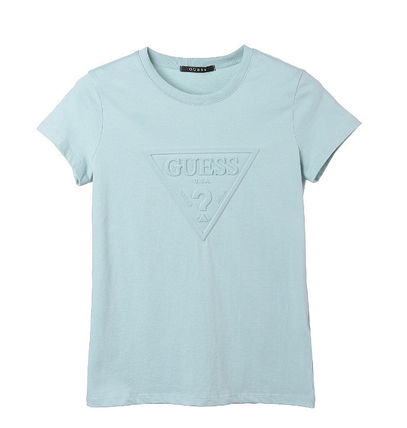 Guess Tシャツ・カットソー (Guess正規品) オリジナルエンボス▽半袖Tシャツ 4色(2)