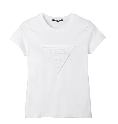 Guess Tシャツ・カットソー (Guess正規品) オリジナルエンボス▽半袖Tシャツ 4色(6)