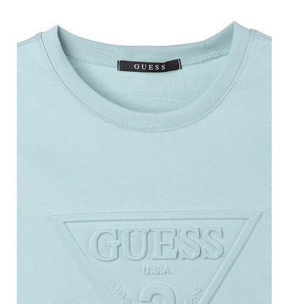 Guess Tシャツ・カットソー (Guess正規品) オリジナルエンボス▽半袖Tシャツ 4色(8)