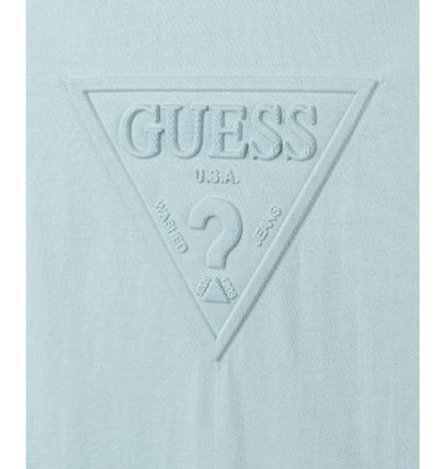 Guess Tシャツ・カットソー (Guess正規品) オリジナルエンボス▽半袖Tシャツ 4色(9)