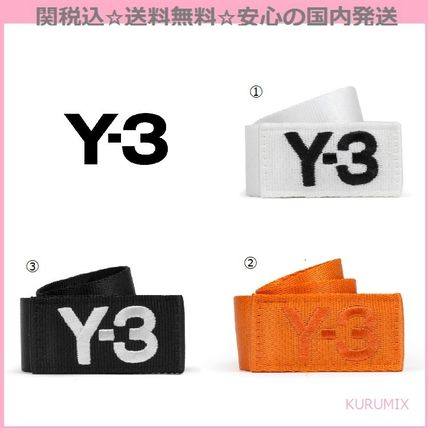 Y-3 fashion brand logo embroidered padded belt