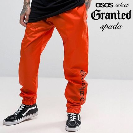 SALE Granted logo print Jogger pants Orange /