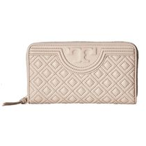 【Tory Burch】Fleming Zip Continental Wallet Bedrock