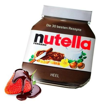 just like authentic Nutella recipe book, Germany