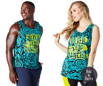 ◆3月新作◆Never Stop Dancing Aqua Zumba Instructor Tank