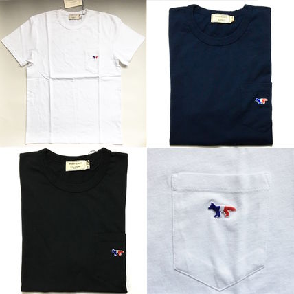 And Maison Kitsune Tricolor Fox pocket T shirt
