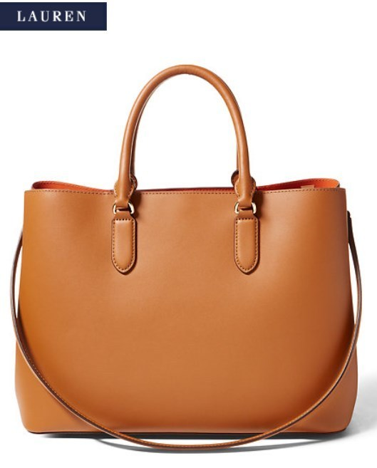 Ralph Lauren☆Leather Marcy Tote トートバッグ2色 国内発送