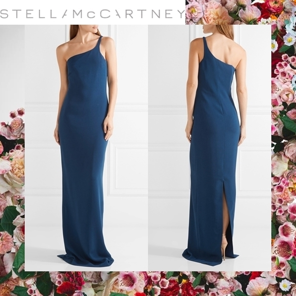☆17RESORT☆ Stella McCartney Mirabella cape-effect gown