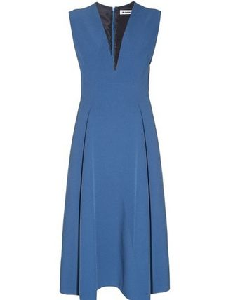 Jil Sander Bocciolo V-neck midi dress