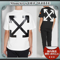 17SS/送関込≪Moncler≫ OFF-WHITEコラボ◆ プリントTシャツ