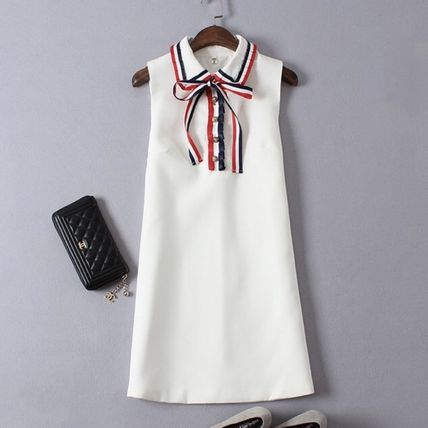 Pretty tricolour Ribbon dress black and white outfit