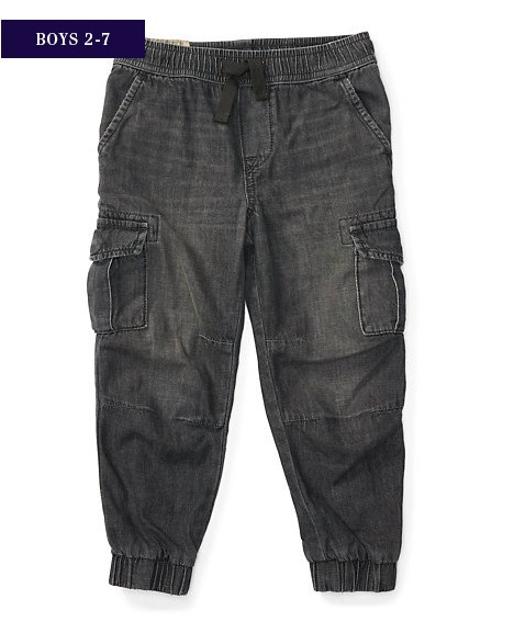 新作♪国内発送 DENIM CARGO JOGGER boys 2~7