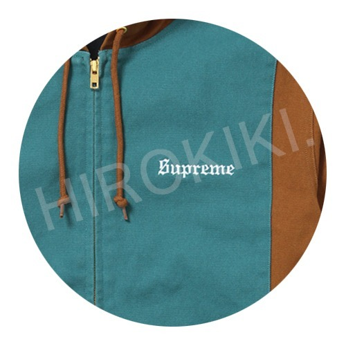【17SS】S-XLサイズ★Supreme 2-Tone Hooded Work Jacket 茶