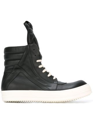 On the day of RICK OWENS SS17 Ric Owens GEOBASKET SNEAKERS.